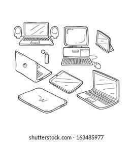 Computer doodle set