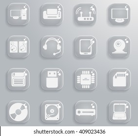Computer equipment  simply symbols for web and user interface