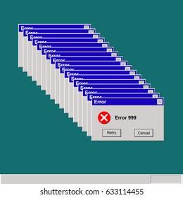 computer error display screen vector