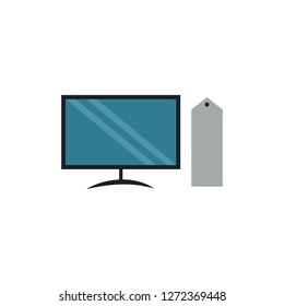 computer flat vector icon. colered design illustration.