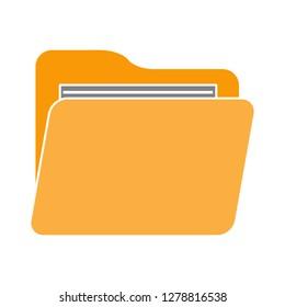 computer folder icon-storage symbol-data illustration-directory vector-computing icon