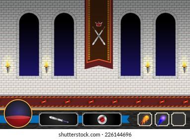 Computer Game Castle Level