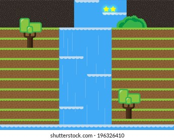 Computer game level design, Waterfall, Forest