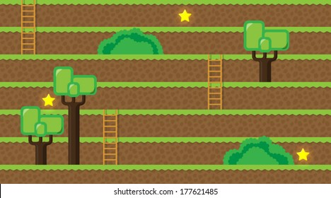 Computer game world - forest