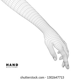 A computer generated rendering hand. - Vector
