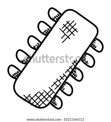 Computer Hardware Integrated Circuit System Stock Vector Royalty