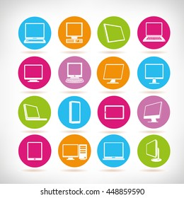 computer icons, electronic device icons