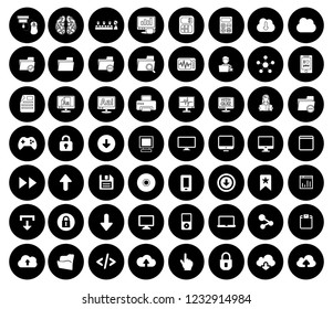 computer icons set - computer technology internet sign and symbols