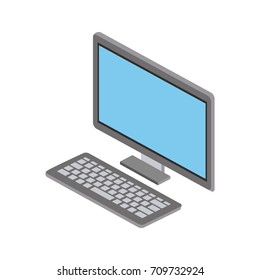 computer and keyboard icon image