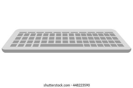 Computer keyboard isolated icon, vector illustration flat design.
