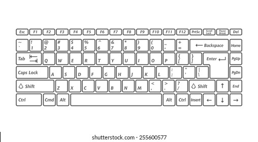 Computer keyboards for using in app. Vector image
