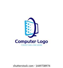 Computer Logo Images Stock Vectors