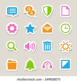 Computer menu icons set. Illustration eps 10