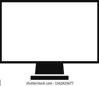 computer monitor icon on white background
