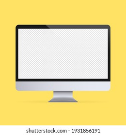 Computer monitor mockup banner. Device icon. Vector on isolated background. EPS 10