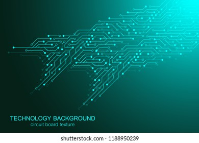 Computer motherboard vector background with circuit board electronic elements. Electronic texture for computer technology, engineering concept. Motherboard integrated computing illustration