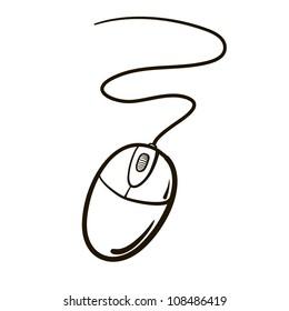 Computer mouse. A children's sketch
