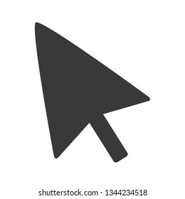 Computer mouse cursor arrow in simple vector format