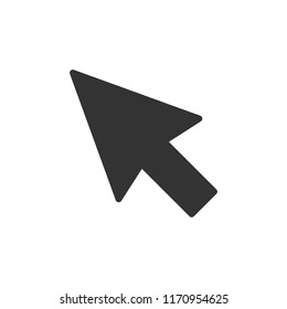 Computer mouse cursor icon in flat style. Arrow cursor vector illustration on white isolated background. Mouse aim business concept.