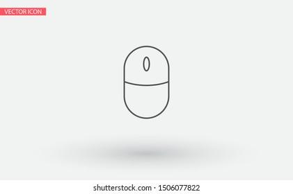 Computer mouse Vector icon . Lorem Ipsum Illustration design