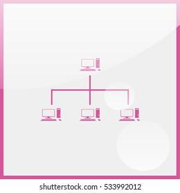 Computer network icon.