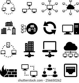 Computer networks and information exchange icons