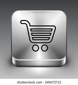 Computer Options Shopping Cart on Silver Square Buttons