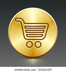 Computer Options Shopping Cart on Gold Round Buttons