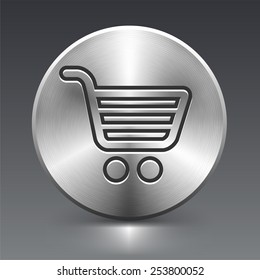 Computer Options Shopping Cart on Silver Round Buttons