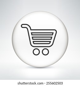 Computer Options Shopping Cart on White Round Buttons