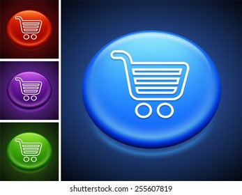 Computer Options Shopping Cart on Blue Round Buttons