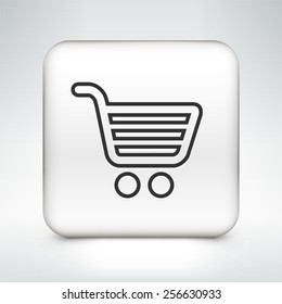 Computer Options Shopping Cart on White Square Buttons