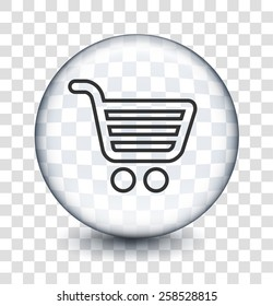 Computer Options Shopping Cart on Transparent Round Buttons