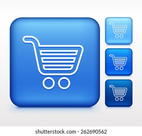 Computer Options Shopping Cart on Blue Square Buttons