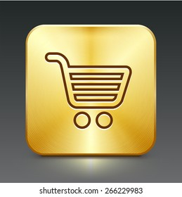 Computer Options Shopping Cart on Gold Square Buttons