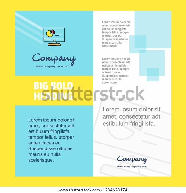 Computer Presentation Company Brochure Title Page Stock