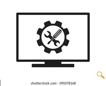 computer repair, icon, vector illustration eps10
