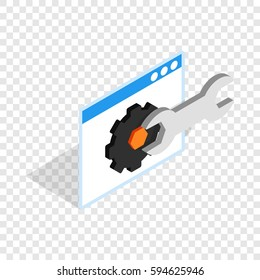 Computer repair isometric icon 3d on a transparent background vector illustration