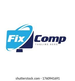 Computer Repair Logo. Computer Service Logo Vector