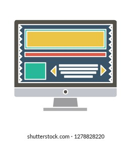 computer screen icon-monitor sign-display vector-desktop icon-lcd illustration