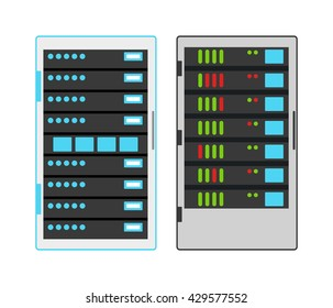 Computer server icon vector illustration
