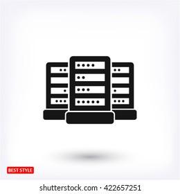 Computer Server. vector icon