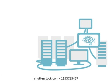 Computer servers with artificial intelligence brain