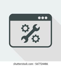 Computer setting - Vector flat icon