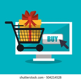 Computer and shopping online design