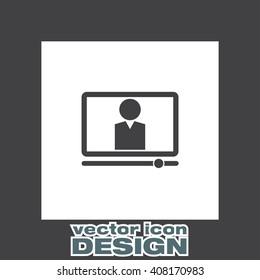 Computer Study vector icon