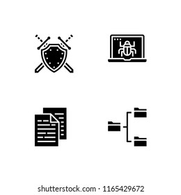 Computer technology. Set outline icon EPS 10 vector format. Professional pixel perfect black, white icons optimized for large and small resolutions. Transparent background.