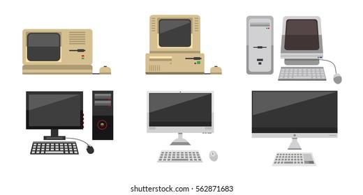 Computer vector evolution illustration.