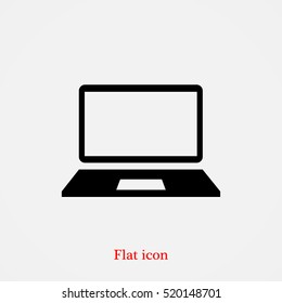 Computer vector icon, vector best flat icon, EPS