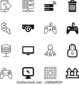 computer vector icon set such as: marketing, electronics, clean, logistic, management, advantage, safety, password, cost, recycle, ppc, touchscreen, link, view, menu, open, datacenter, laptop, delete